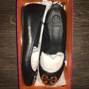 Authentic Tory Burch Reva Ballet Black New Size 9
